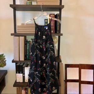 never worn. Francesca's black floral shift dress